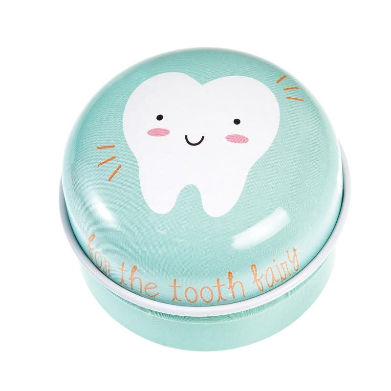 Boîte à dents de lait bleue