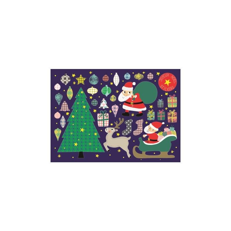 Carte stickers Joyeux Noël