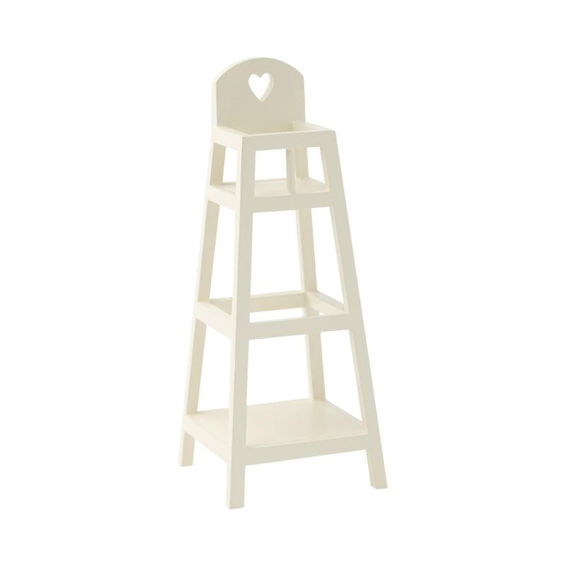 Chaise haute beige pour...