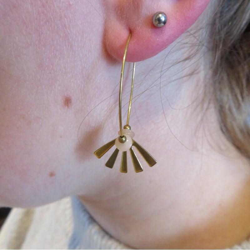 Boucles d'oreille éventail