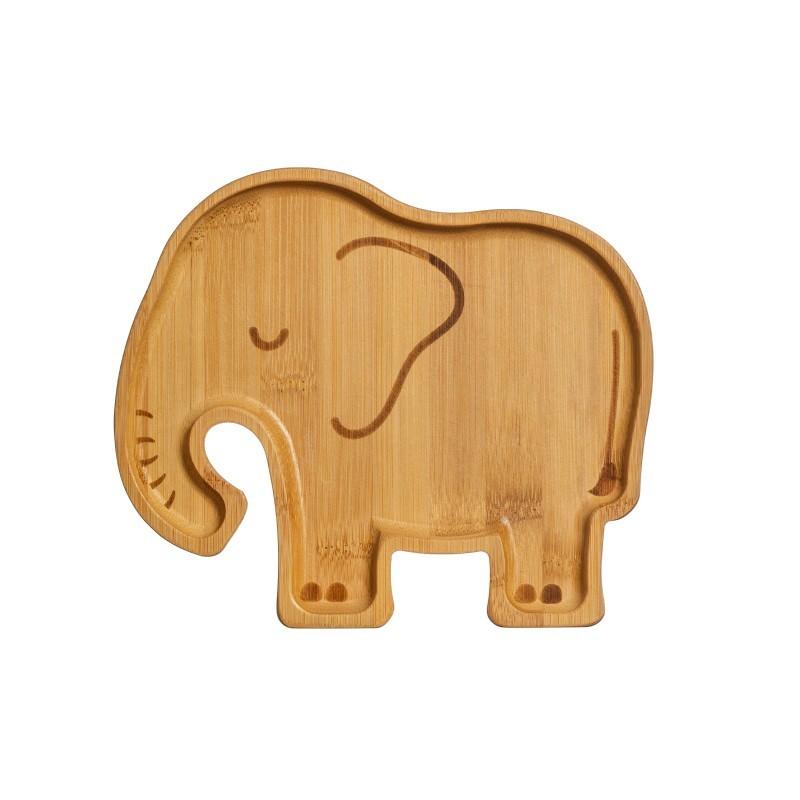 Assiette Eléphant en bambou