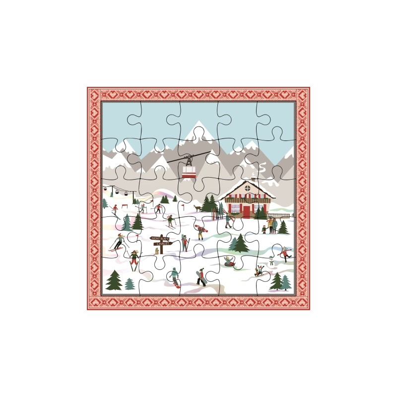 Carte puzzle Montagne