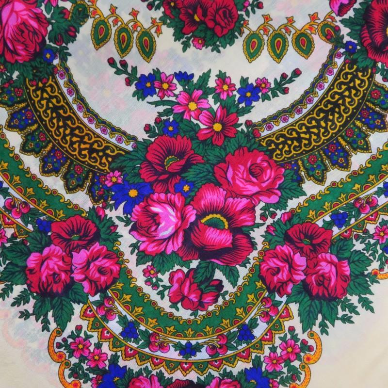 Grand foulard Slave écru