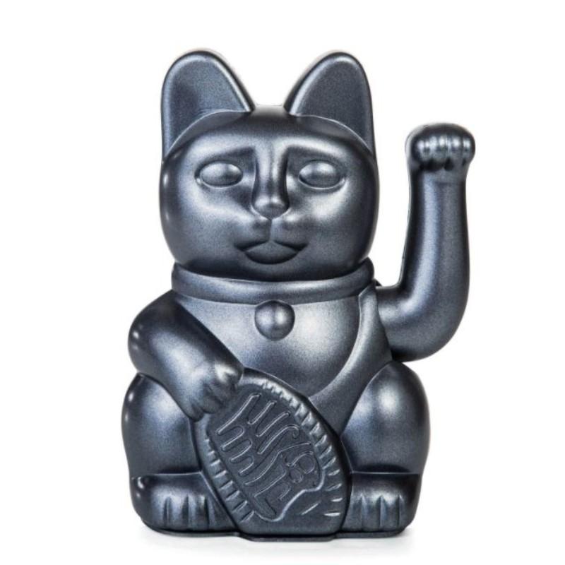 Lucky cat gris métallisé...