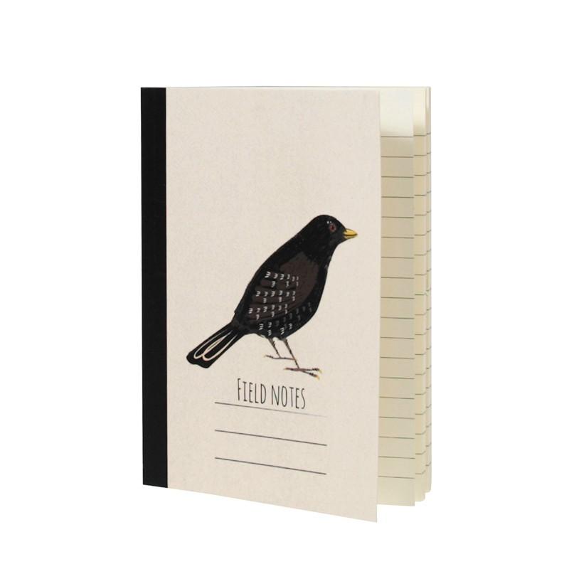 Carnet de notes A6 Black bird