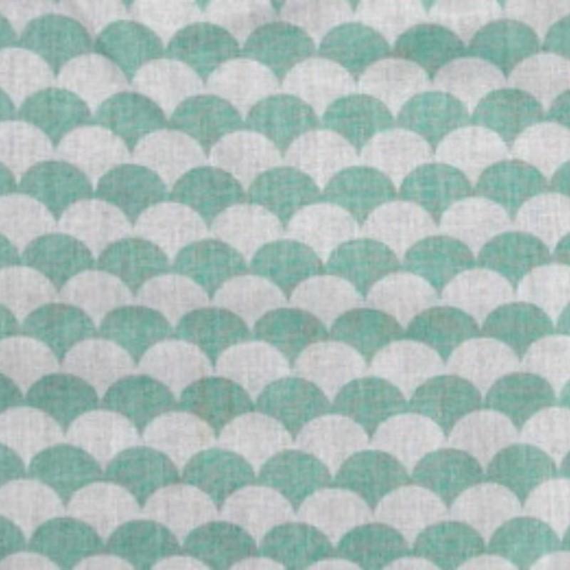 Tissu Frise vert d'eau