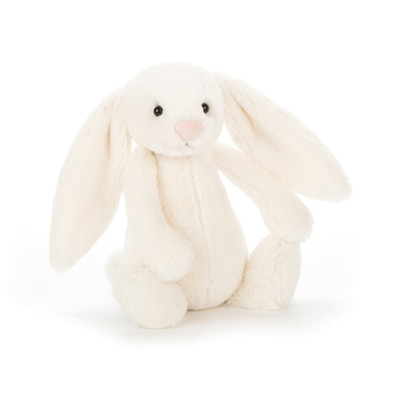 Peluche lapin blanc uni