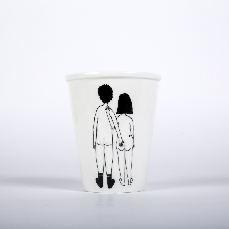 Tasse Couple nu de dos...