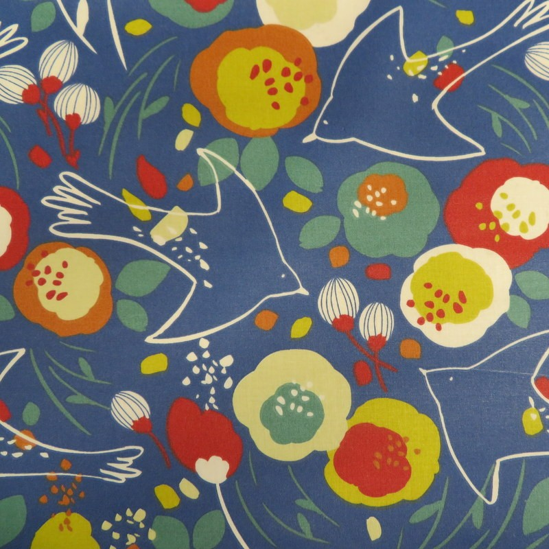 Tissu coton enduit Fleurs...