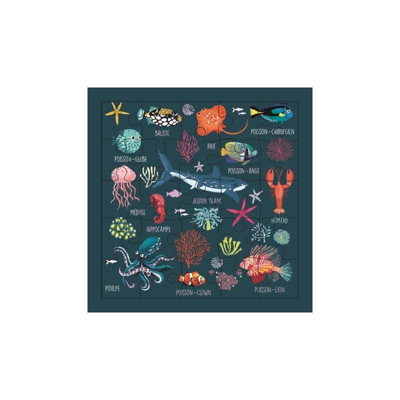 Carte puzzle Sous l'océan