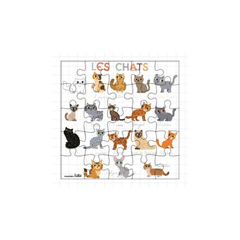 Carte puzzle Les chats