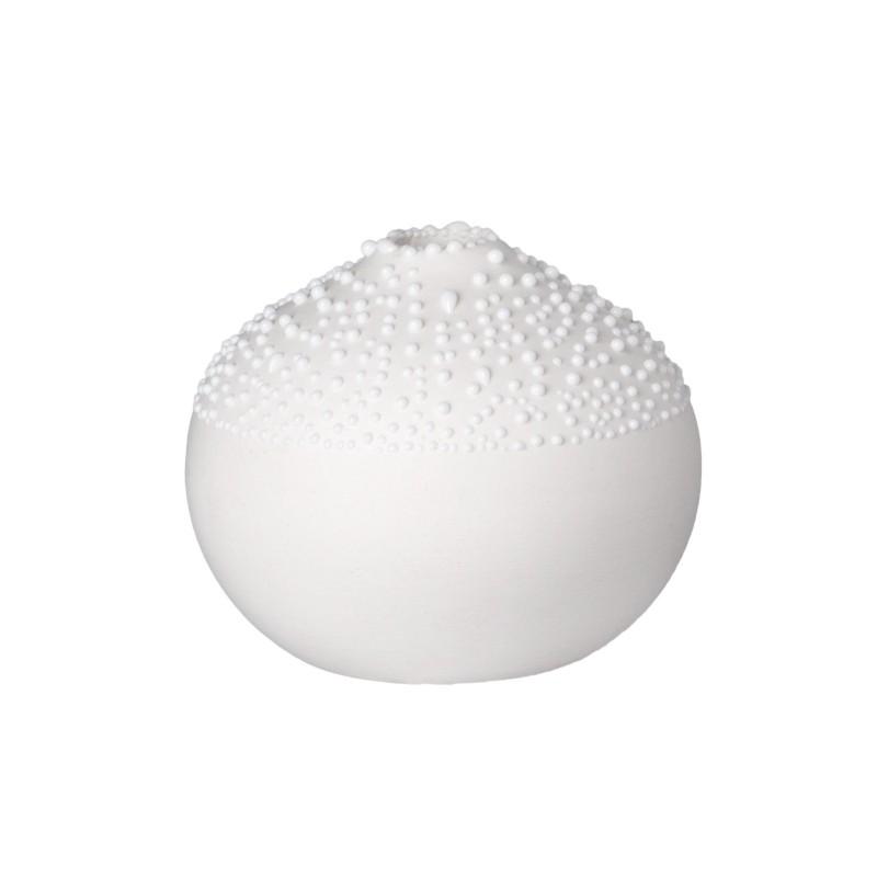Vase mini rond blanc à...