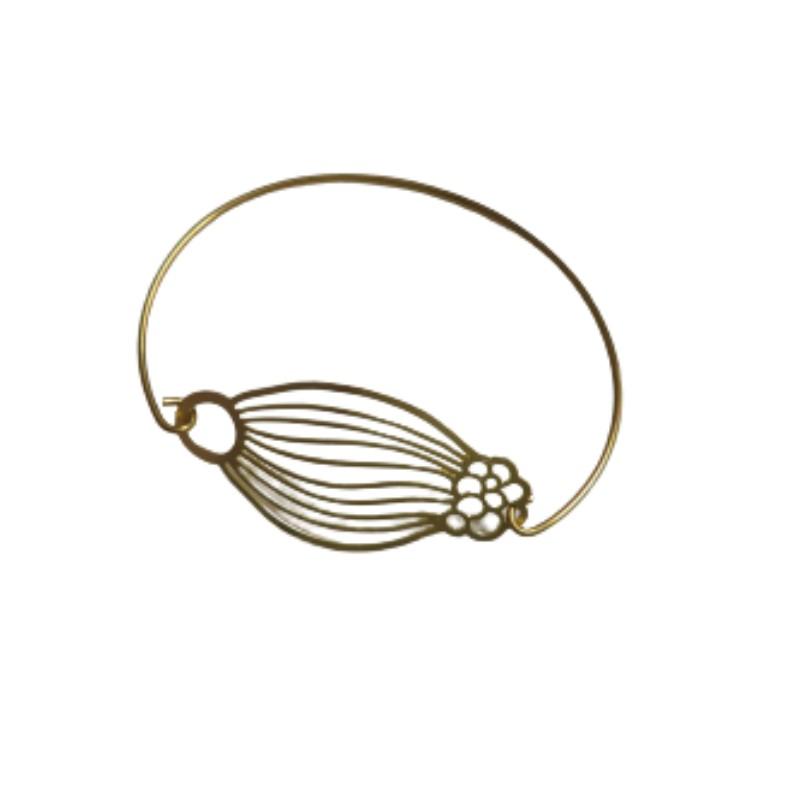 Bracelet en laiton doré Opium