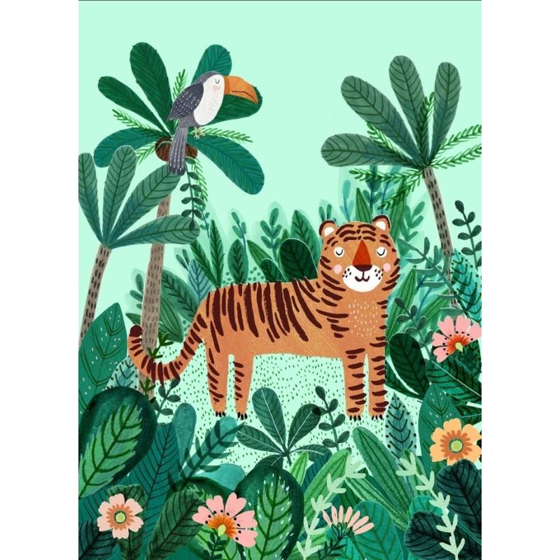 Carte simple Tigre