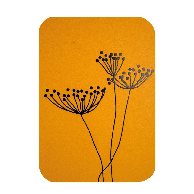 Carte simple Fleurs fond...