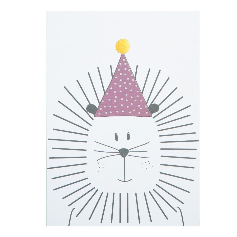 Carte simple Lion