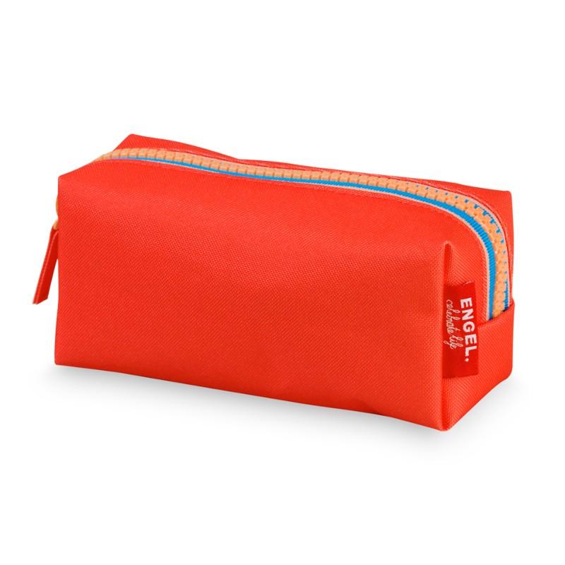 Trousse zippée rouge