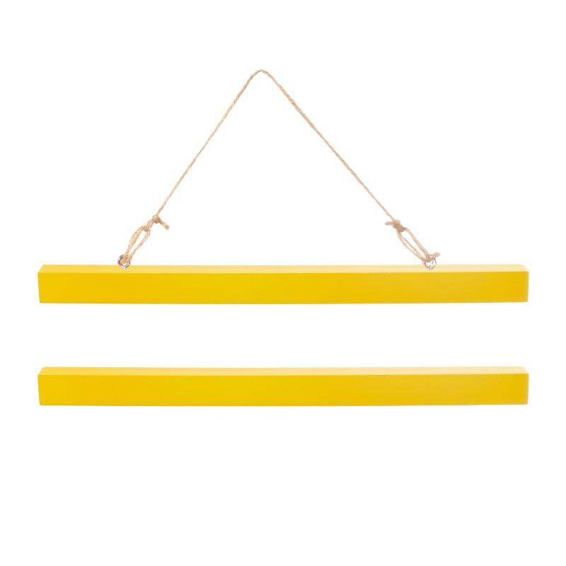 Petit porte affiche jaune