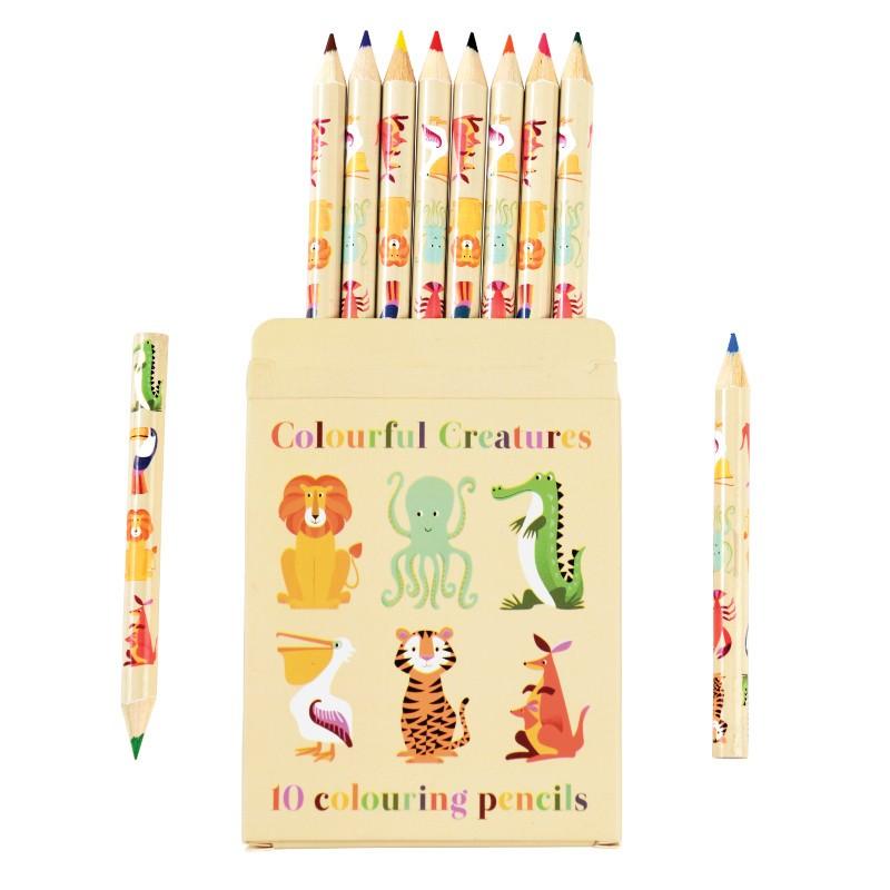 Set de 10 petits crayons de...
