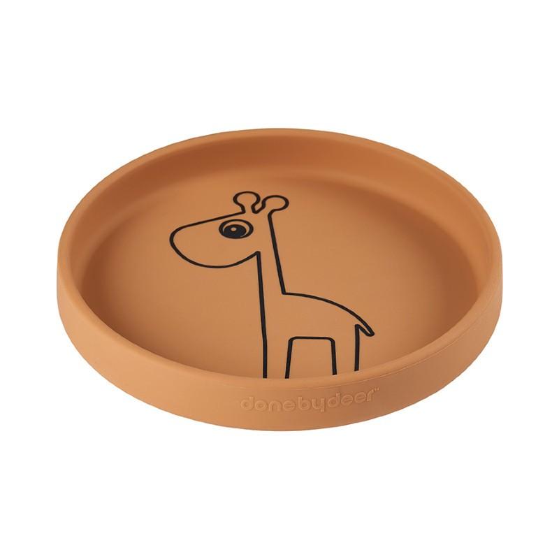 Assiette Girafe moutarde en...