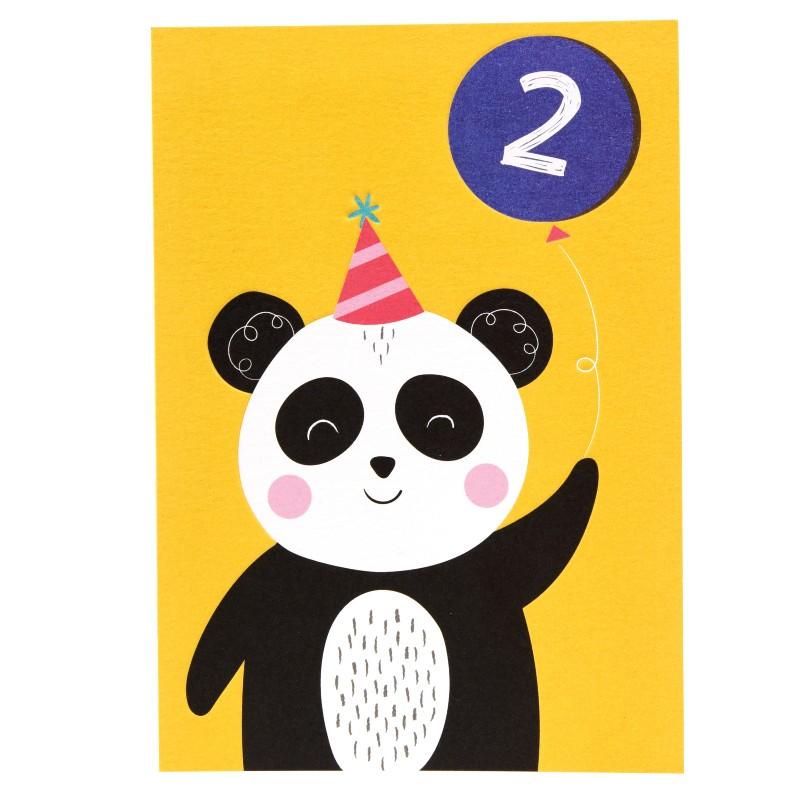 Carte double Panda 2 ans