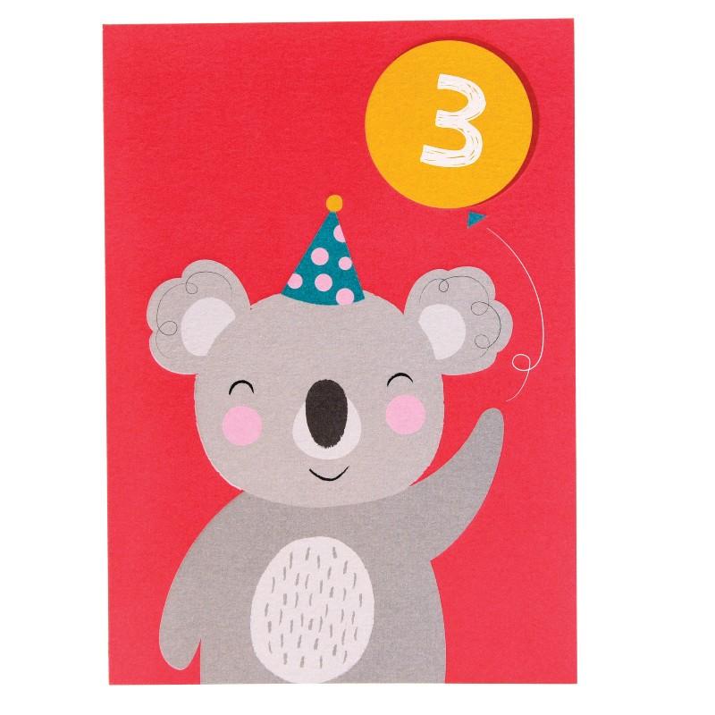 Carte double Koala 3 ans