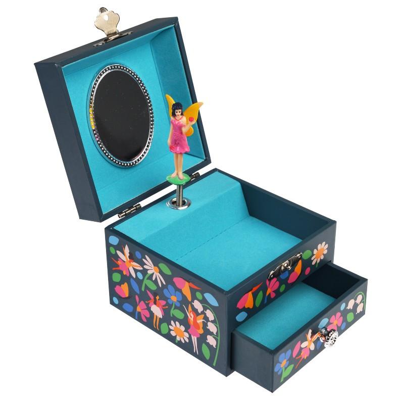 Boîte à bijoux carrée Fées...