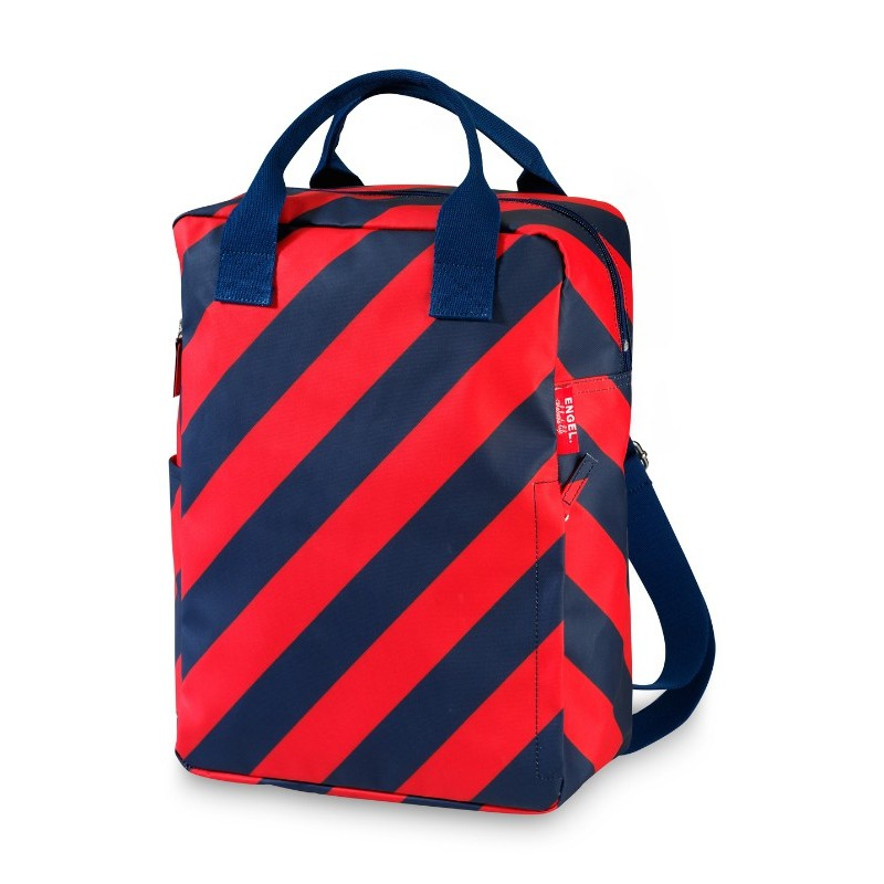 Grand sac à dos rayé rouge