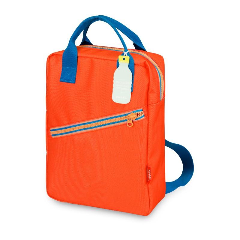 Grand sac à dos zippé rouge