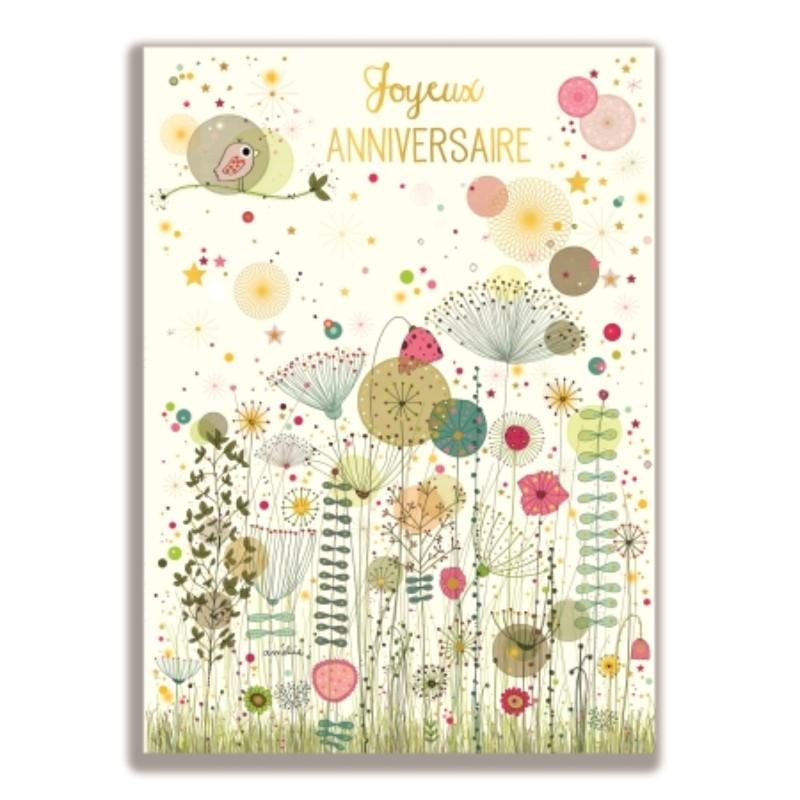 Carte géante Fleurs Joyeux...