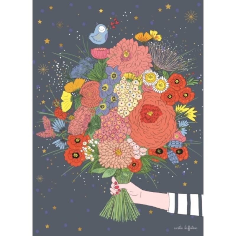 Carte géante Bouquet de fleurs