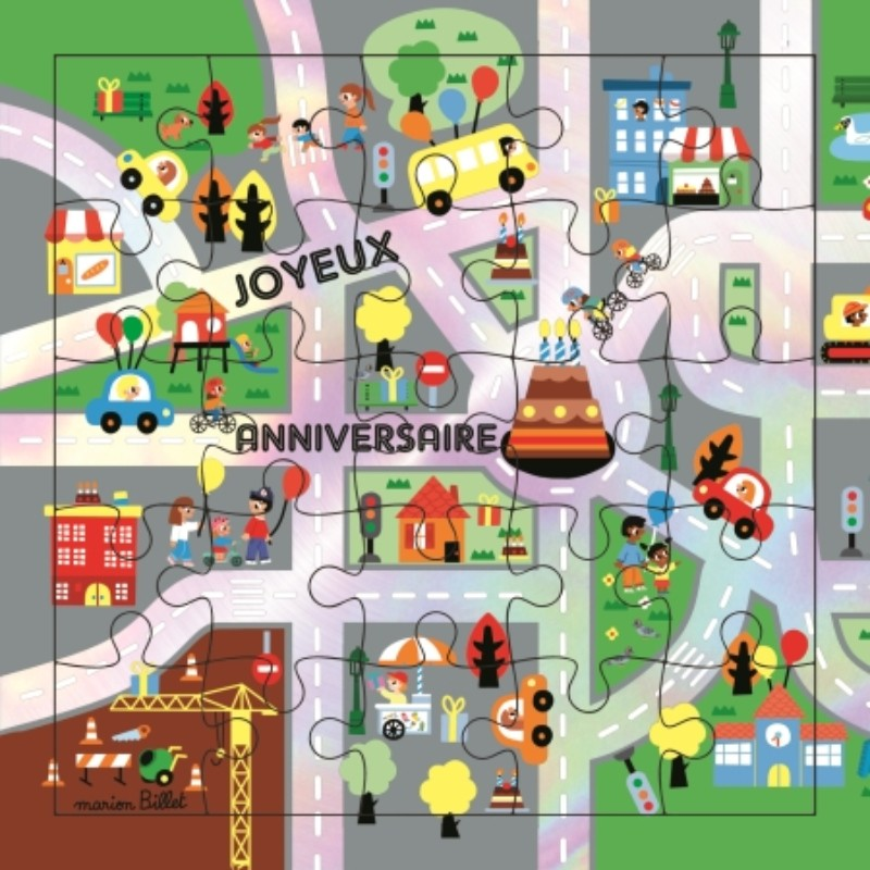 Carte puzzle Anniversaire...