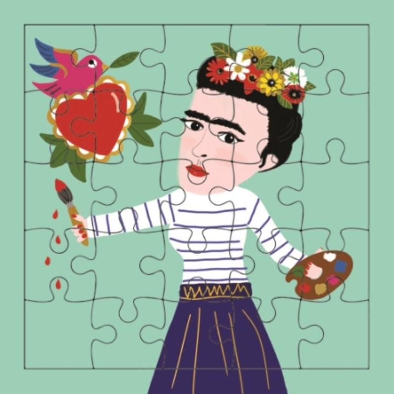 Carte puzzle Frida peintre