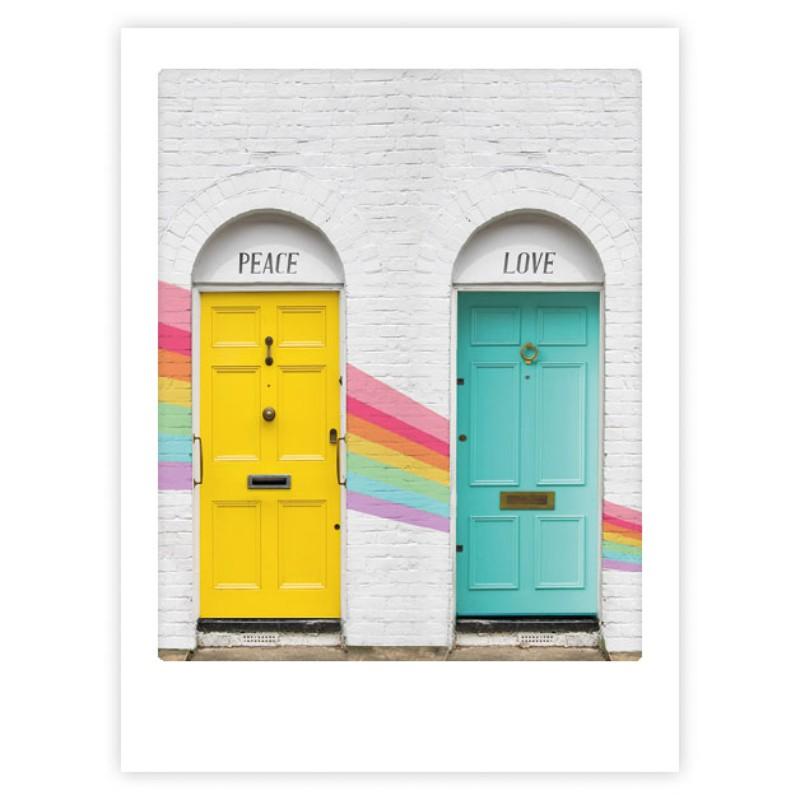Poster Portes Peace & Love...