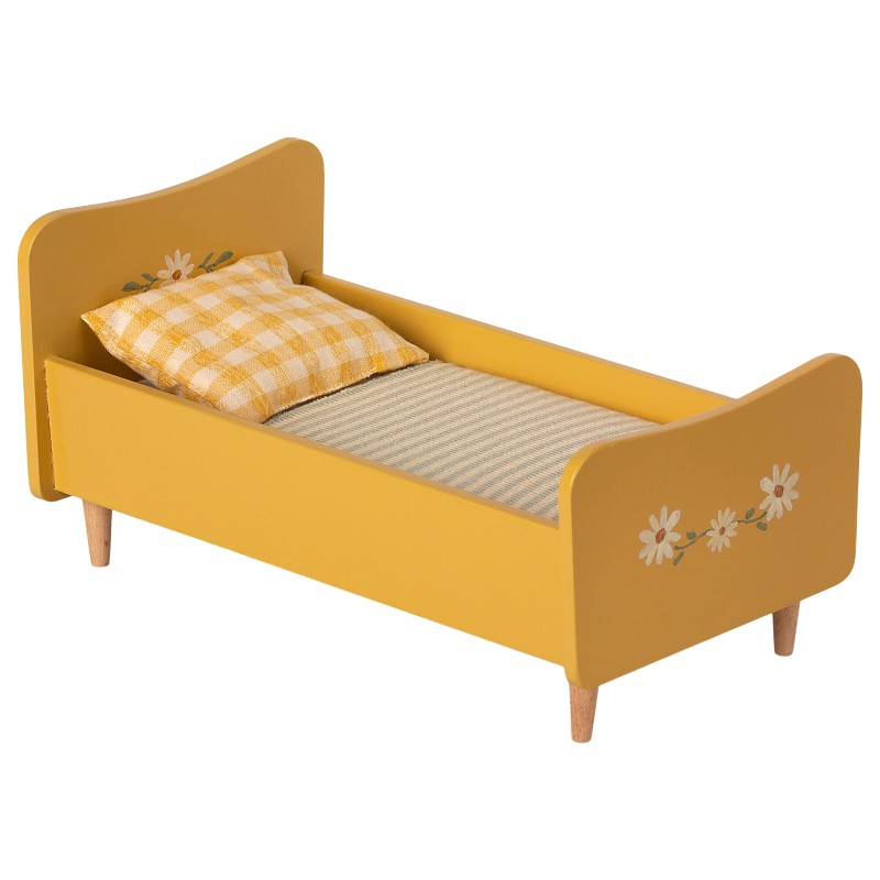 Grand lit en bois jaune Maileg