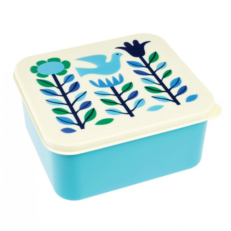 Boîte à lunch Fleurs bleues