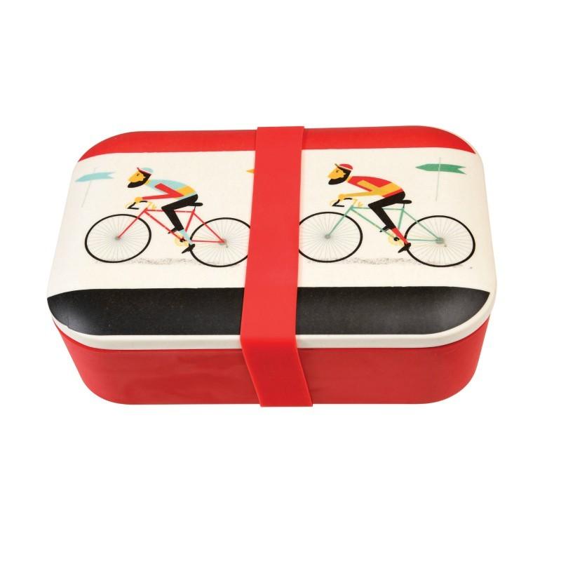 Boîte à repas bambou Cycliste